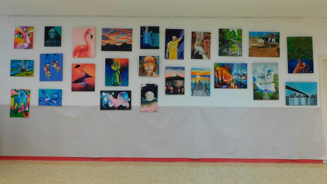 Exposición curso 2020-21 de la Escuela de Arte La Paz