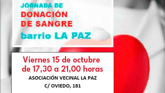 Jornada de Donación de Sangre 15 octubre 2021